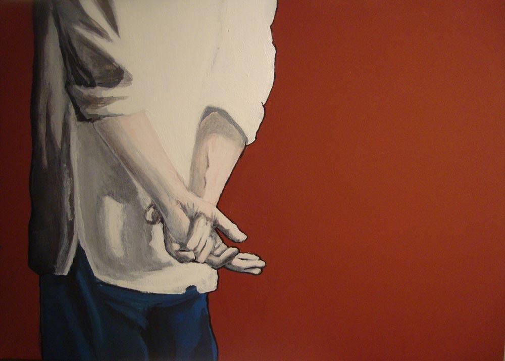 """Di spalle - Quadro di Dario """"Arido"""" Corbella 2010 - 70x50 - acrilico su tela"""
