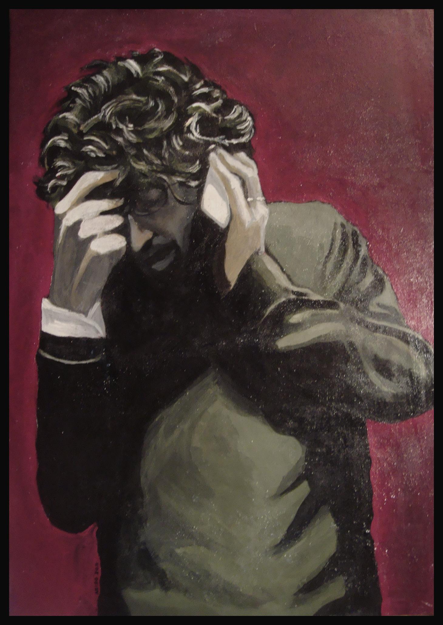 """espiazione - quadro di Dario """"arido"""" Corbella - 100×150 acrilico su tela"""