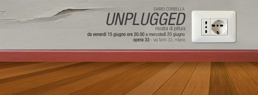 """Locandina Mostra unplugged di Dario """"arido"""" Corbella"""